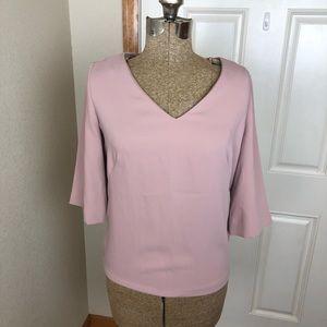 RACHEl Rachel Roy Blush Pink V Neck Blouse